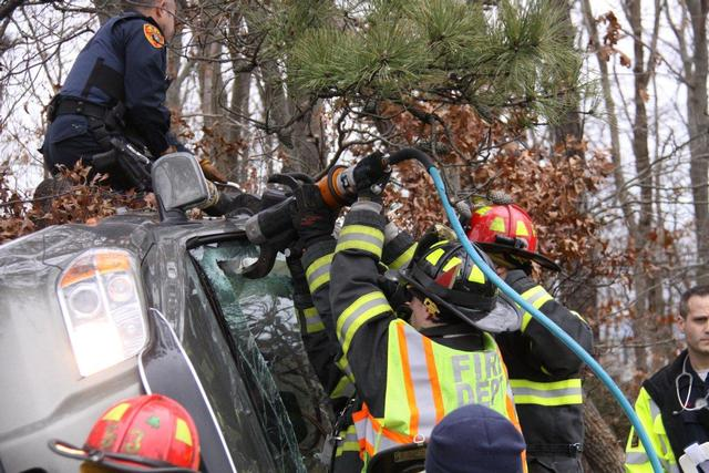 Overturn With Entrapment Holbrook Fire Department
